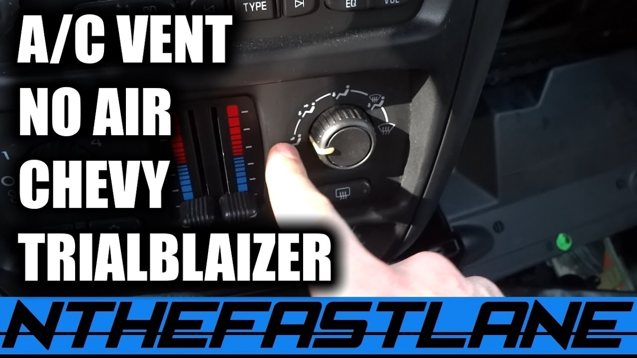 small resolution of  a c vents not working fix 06 chevy trailblaizer