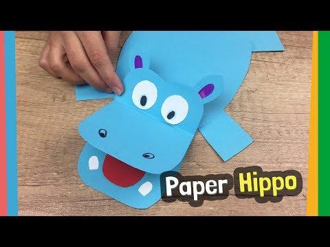 144  sc 1 st  YouTube & Paper Plate Hippopotamus Craft - YouTube