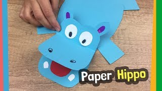 Paper Hippo Craft Idea   Easy to make DIY for kids at home
