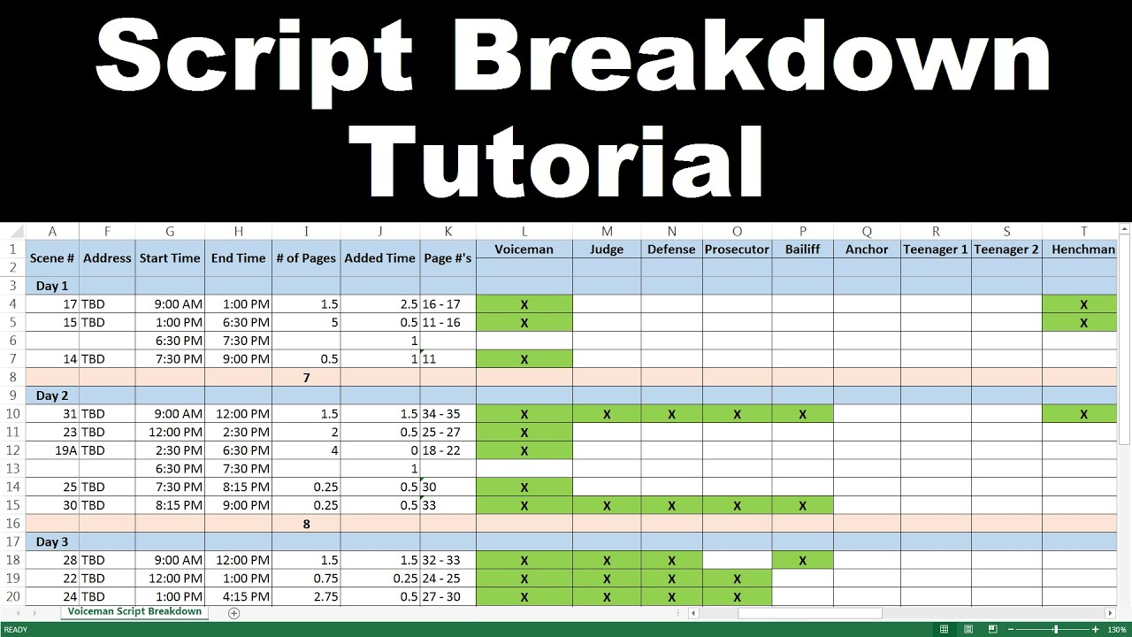 Get the breakdown sheet form