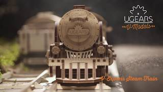 Ugears V-Express Steam Train with Tender