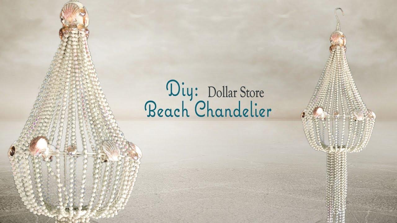 Beach chandelier dollar tree diy youtube beach chandelier dollar tree diy arubaitofo Image collections