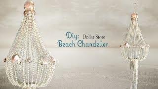 BEACH CHANDELIER - Dollar Tree DIY