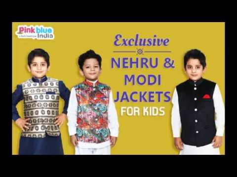 de4ff8d70 Exclusive Range of Nehru & Modi Jackets for Kids Online | Boys Waistcoats.  Pink Blue India