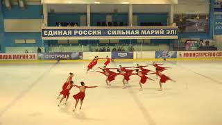 Чемпионат России по синхронному катанию  KMC  ПП 7 Пируэт ОРЕ