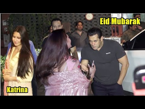 Salman Khan, Katrina Kaif, Jacquline Arrive at Arpita Khan Eid Celebrate Party 2018