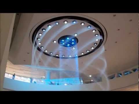 Water Fountain Show at Lotte Department Store in Busan, South Korea