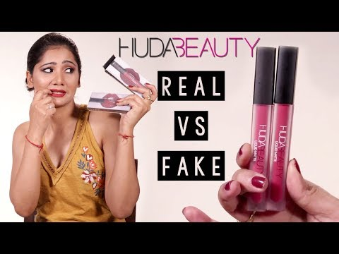Real VS Fake Huda Beauty Liquid Matte Lipsticks  How To Identify Fake Makeup