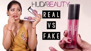 Real VS Fake Huda Beauty Liquid Matte Lipsticks | How To Identify Fake Makeup