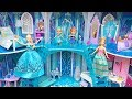 ????Elsa Anna Frozen Ice Castle????Disney Princess Dollhouse Room decor Ice palace????Barbie doll dresses