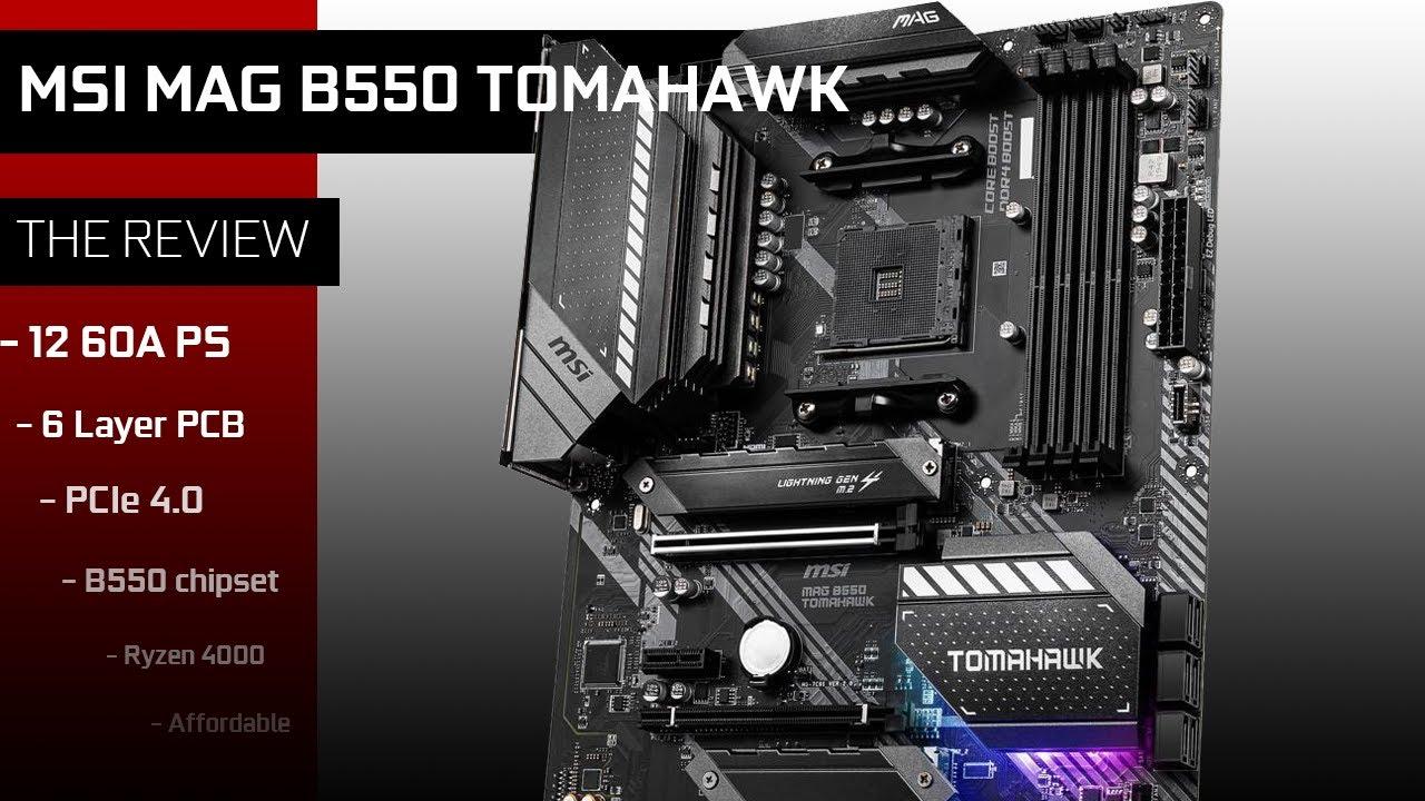 Main MSI MAG B550 TOMAHAWK (Chipset AMD B550/ Socket AM4/ VGA onboard)