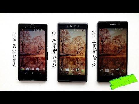 Sony Xperia Z vs. Xperia Z1 vs. Xperia Z2 hands on comparison [EN]