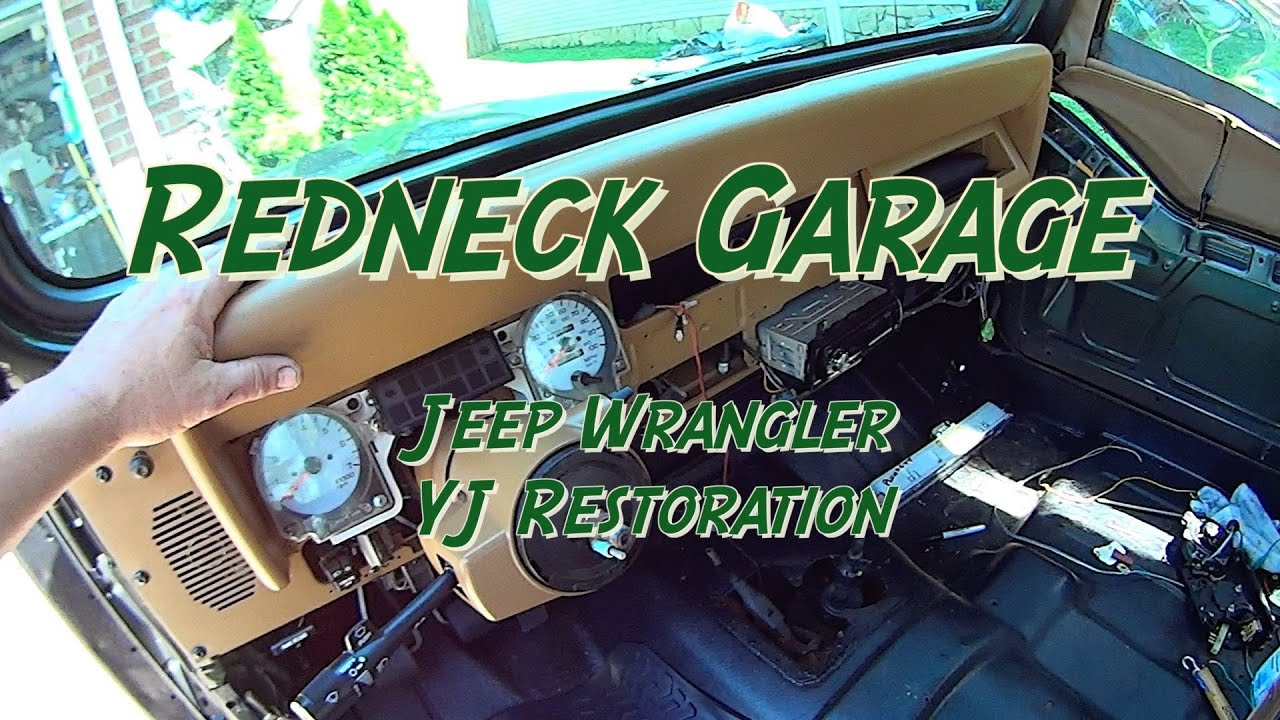 Jeep Wrangler YJ Installing Stereo Carpet Dash YouTube