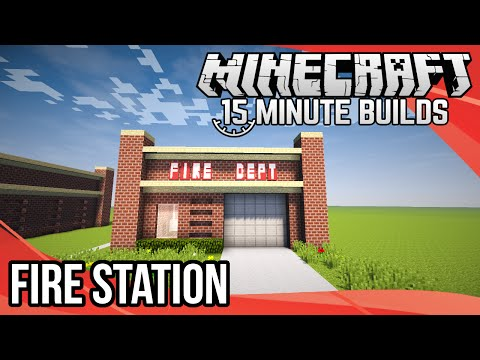 Minecraft 15-Minute Builds: Fire Station