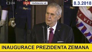 Inaugurační projev prezidenta Zemana pár lidí