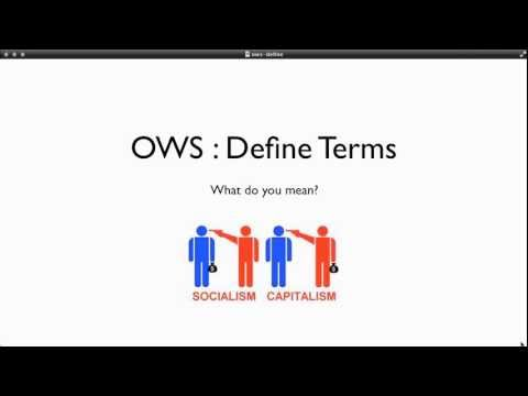 #OWS - define terms (prelude)
