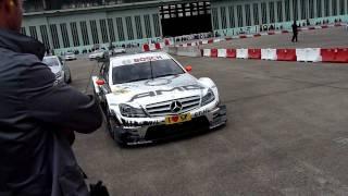 Mercedes - Benz & Friends Berlin Tempelhof C63 AMG DTM TESTFAHRT Bernd Schneider