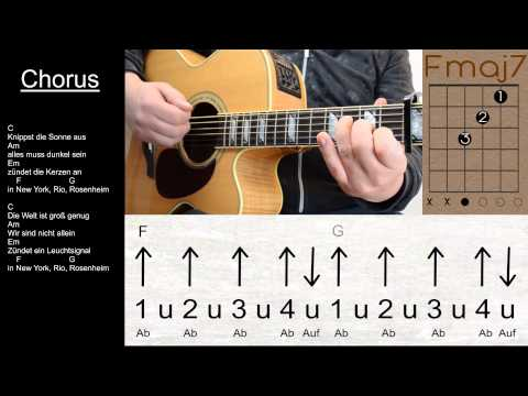 Sportfreunde Stiller - New York,Rio,Rosenheim / Lyrics, Akkorde, Gitarre, Lesson, Tutorial