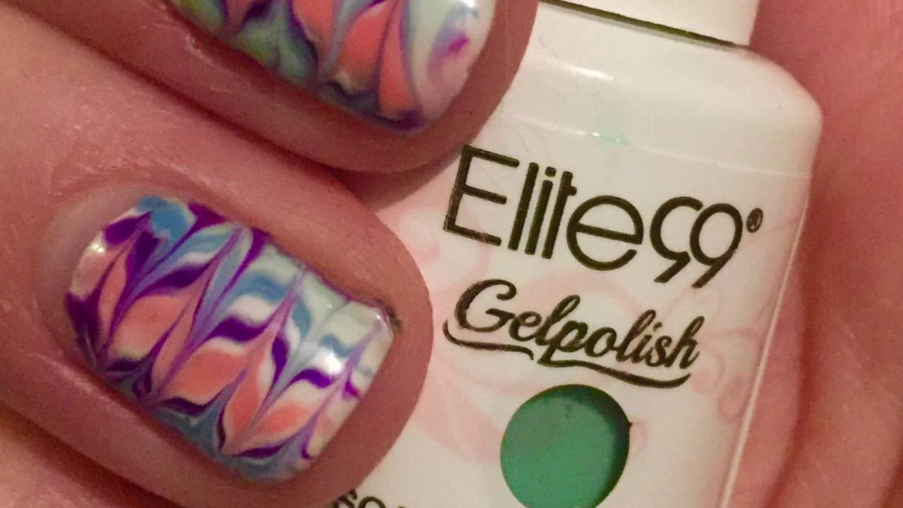 Uv Gel Polish Water Marble Nails