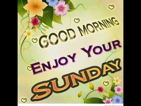 Good Morning Video 2018 New Happy Sunday Good Day New Hd Youtube