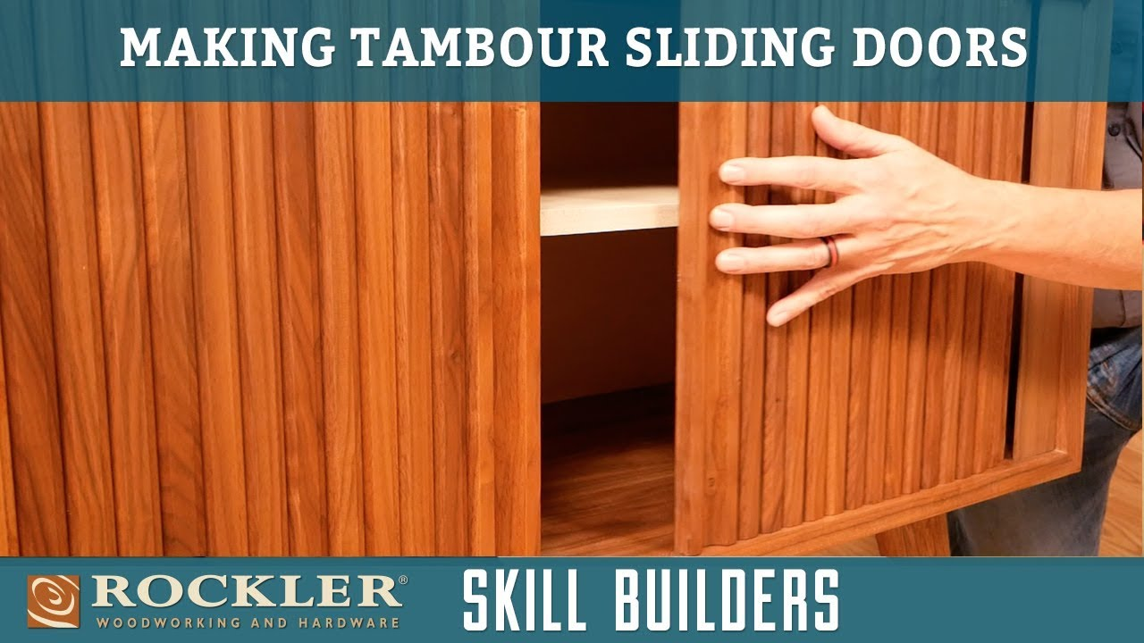 How To Make A Sliding Tambour Door