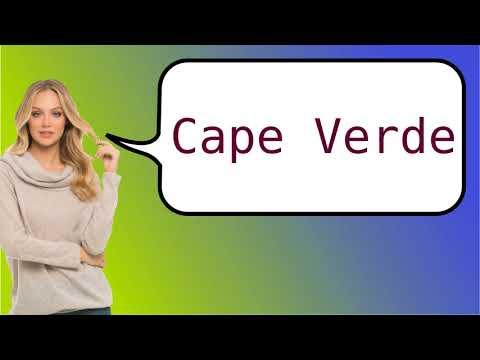 Como dizer 'Cabo Verde' em ingles?