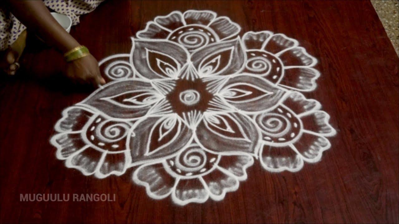 rangoli designs with dots simple 5 dots kolam rangoli with ...