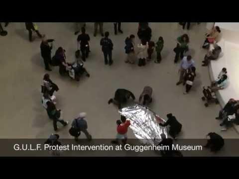 G.U.L.F. Protest at Guggenheim Museum