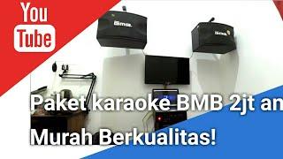 PAKET HOME KARAOKE BMB CS350 2jt an   ampli Ealsem + Speaker BMB + Subwover Polytron   cek suaranya!