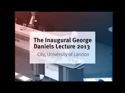 Inaugural George Daniels Lecture, City University London.