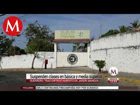 Tras balacera, suspenden clases en escuelas de Acapulco