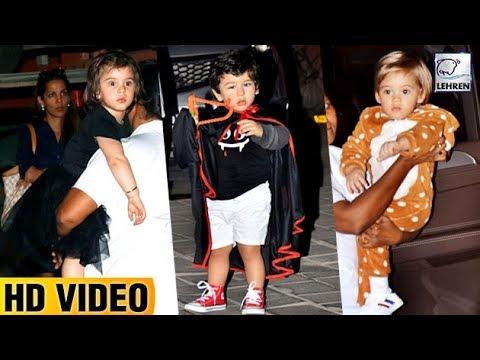 Taimur, Yash And Roohi Wear Spooky Costumes For Ahil Sharma's Halloween Bash | LehrenTV Mp3