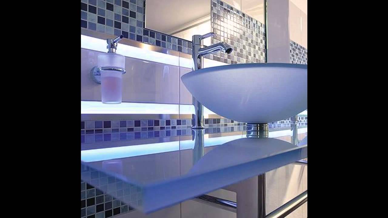 cool bathroom lights cool led bathroom lighting ideas 12498