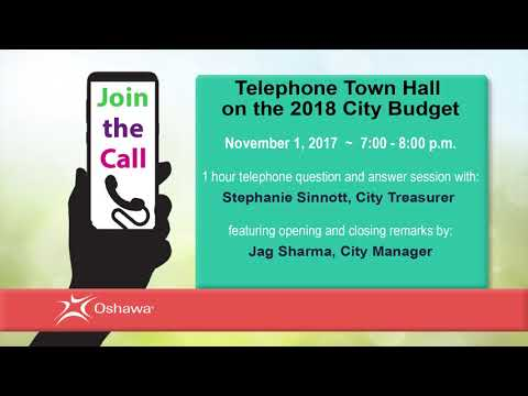 Telephone Town Hall on the 2018 City Budget - November 2017