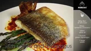 Рецепты для хоспера: Запечённый Сибас (sea bass) с луком и спаржей