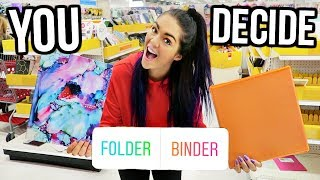 My Instagram Followers Control My Back To School Supplies Shopping!