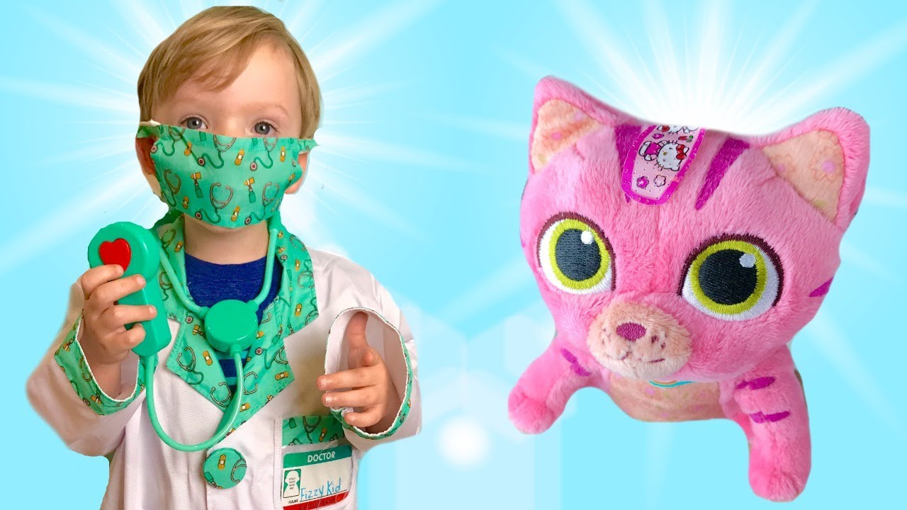 Fizzy Fun Toys: Kid Helps Sick Kitty Doctor's Appointment