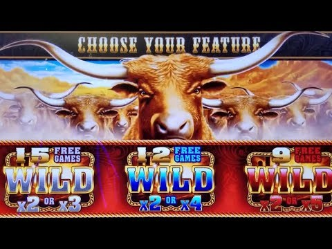 Longhorn Deluxe Slot Machine Max Bet Bonus - GREAT SESSION | Wealthy Monkey Slot | 3 Reel Buffalo