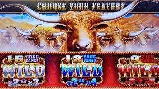 Longhorn Deluxe Slot Machine Max Bet Bonus - GREAT SESSION | Wealthy Monkey Slot | 3 Reel Buffalo