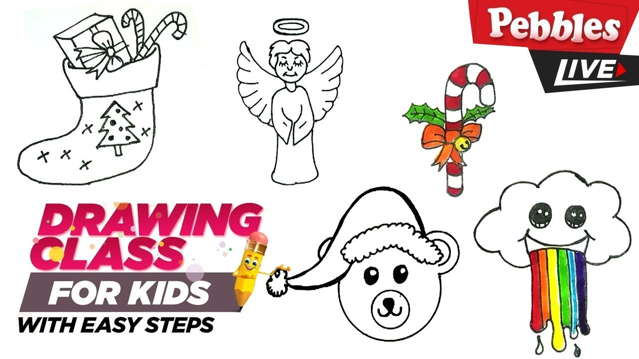 Christmas Drawing Ideas.Christmas Drawing Ideas Easy Collection 1 Step By Step Drawing For Kids Christmas Drawing For Kids