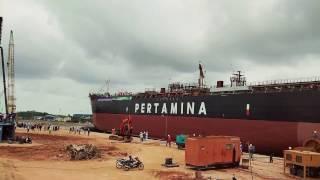 Launching Tanker Pertamina 17.500LTDW MT.PASAMAN