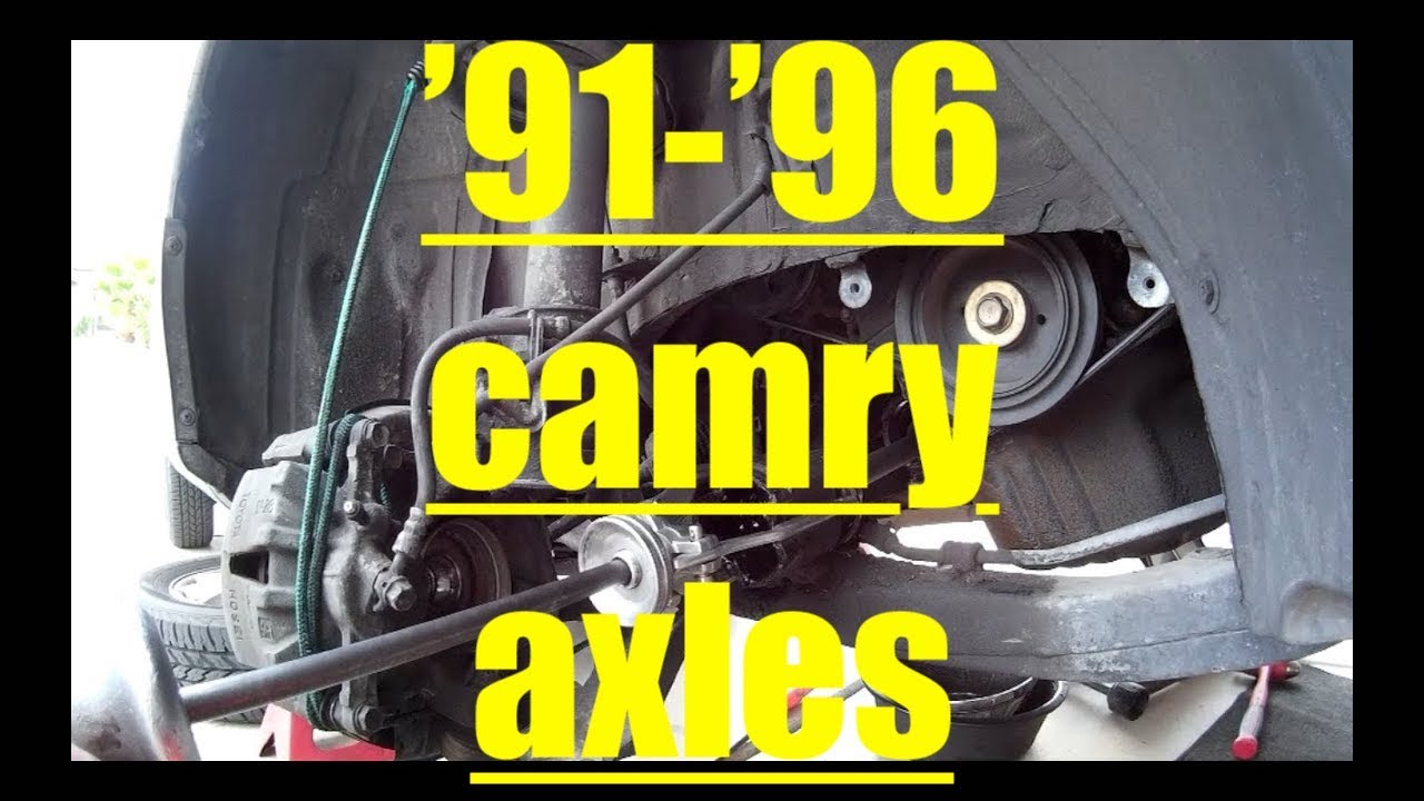 Replacing Front Axles '91'96 Toyota Camry √ Fix it Angel  YouTube