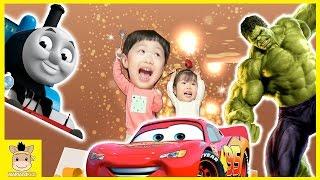Toys 30 Surprise Eggs Fun Play for Kids Disney CARS MARVEL hulk thomas friends | MariAndKids Toys