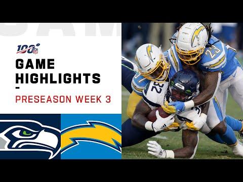 Seahawks vs. Chargers Preseason Week 3 Highlights | NFL 2019