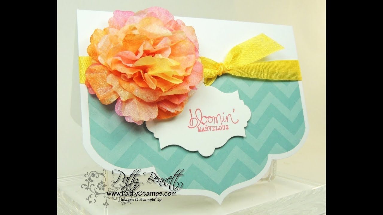 How to make a stampin up creped paper flower youtube how to make a stampin up creped paper flower mightylinksfo Choice Image