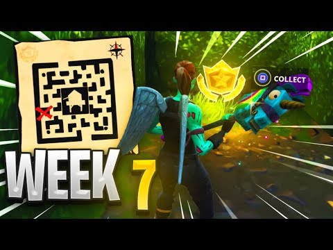 FORTNITE - Follow The Treasure Map Found In Retail Row (Week 7)