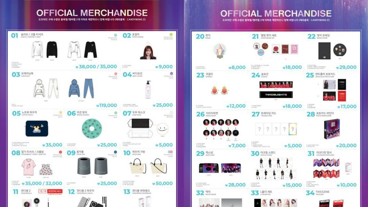 Twice World Tour 2019 Twicelights In Seoul Official Merchandise
