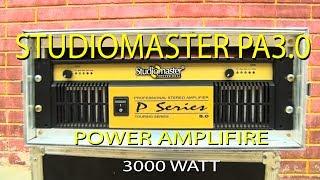 Studiomaster PA 3.0 I Dual Chanel Power Amplifier I 3000 Watt I DJ & Live  Amplifier