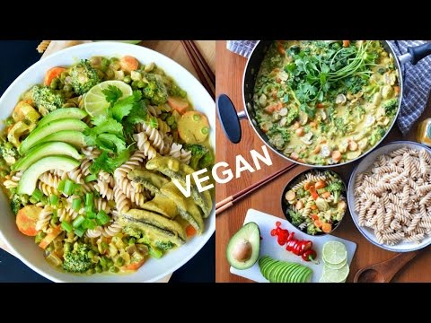 15 minutes Vegan coconut curry recipe | Easy, healthy & tasty | gluten-free