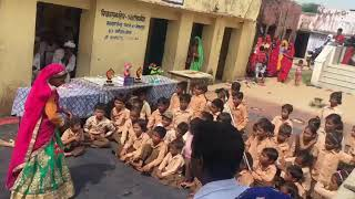 Dance by a little girl student on 15.08.2018 in Government Upper Primary School, Gopalpura